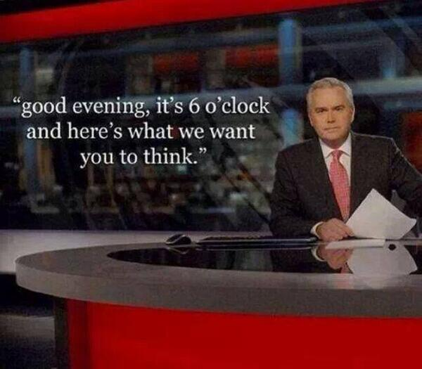 The six o'clock news
